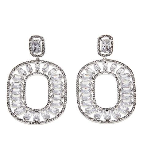 "Joan Boyce Carmella's ""Holiday Dressing"" CZ and Crystal Drop Earrings"