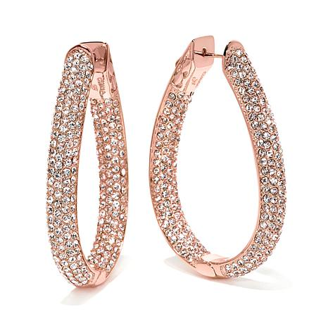 "Joan Boyce ""Fashion Faithful"" U-Shaped Hoop Earrings"