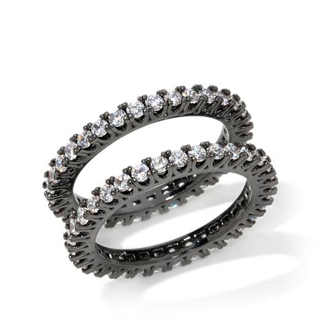 "Joan Boyce ""I Do, I Do"" 2-piece Eternity Band Ring Set"