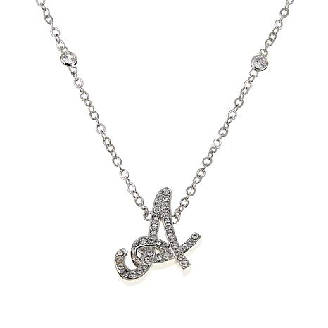 "Joan Boyce ""Say My Initial"" Crystal-Accented 18"" Drop Necklace"
