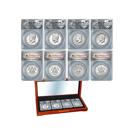 John F. Kennedy 50th FDOI LE 2,014 Half Dollar Set