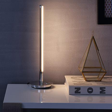 "JONATHAN Y Chrome Keira 16.5"" LED Integrated Table Lamp"