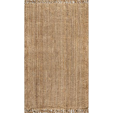 Jonathan  Y Pata Hand Woven Chunky Jute 8' x 10' Area Rug with Fringe