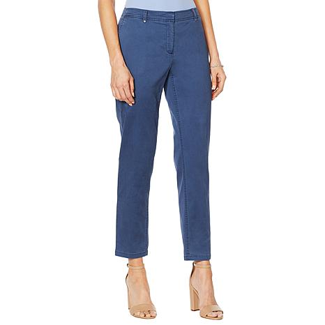 Jones NY Grace Cotton Ankle Pant - Missy
