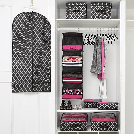 Beau JOY 32pc Wow Set Ultimate Closet Organization With Huggable Hangers®    10076900 | HSN