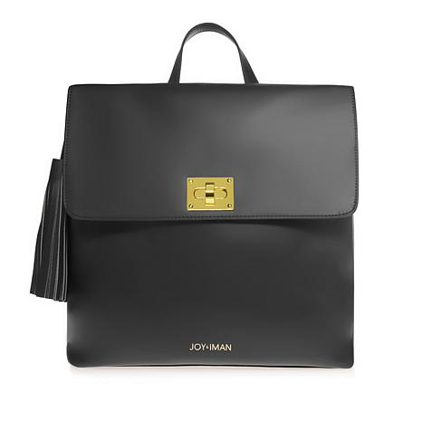 JOY & IMAN Tassel Chic Leather Backpack with RFID