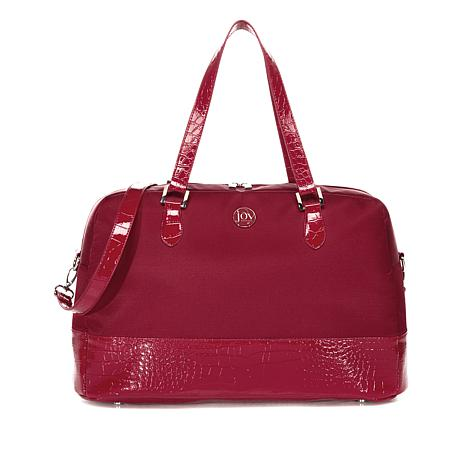 JOY E*Lite Croco-Embossed Couture TuffTech Getaway Bag with RFID
