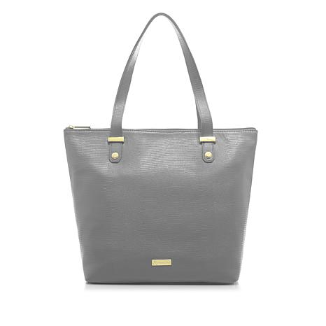 JOY Luxe Leather Lizard-Embossed City Collection Handbag with RFID