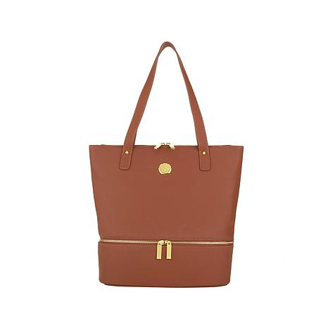 f9a79b3db12 JOY Smart   Chic Leather Handbag Set with Secret Section and More - 8384907    HSN