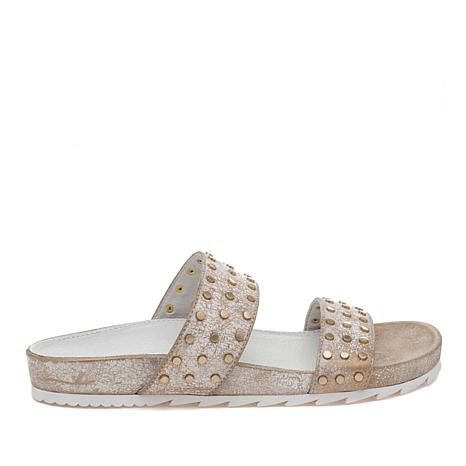 J/Slides NYC Erika Studded Footbed Slide Sandal