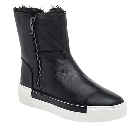 J/Slides NYC Waterproof Leather Foldover Bootie