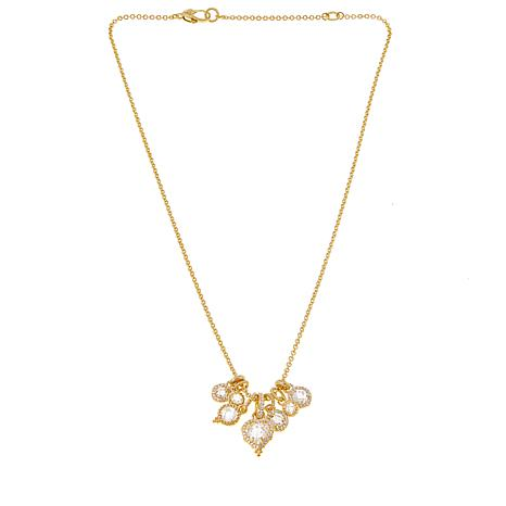 Judith Ripka 9.50ctw Diamonique® 14K Gold-Clad Charm Necklace
