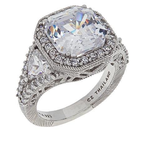 Judith Ripka Asscher Cut Diamonique 174 Engagement Ring