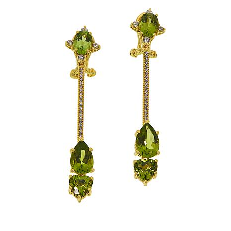 Judith Ripka Colored Gemstone and Diamonique® Drop Earrings