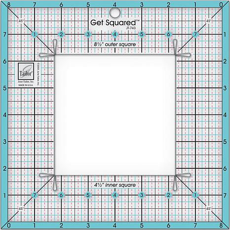 June Tailor Get Squared Ruler 8 1 2 Outer And 4 1 2 Inner 6726184 Hsn