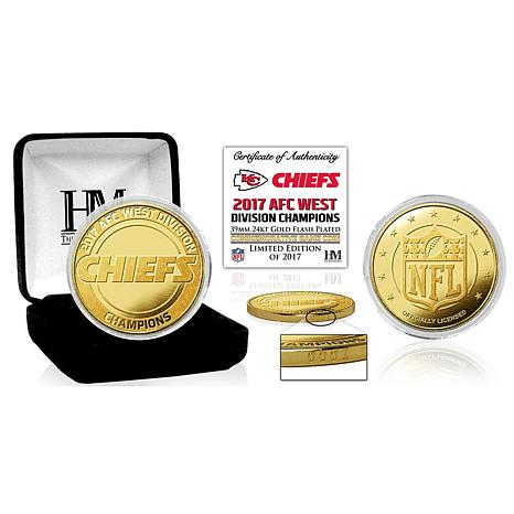Kansas City Chiefs 2017 AFC West Division Champions Gold Mint Coin
