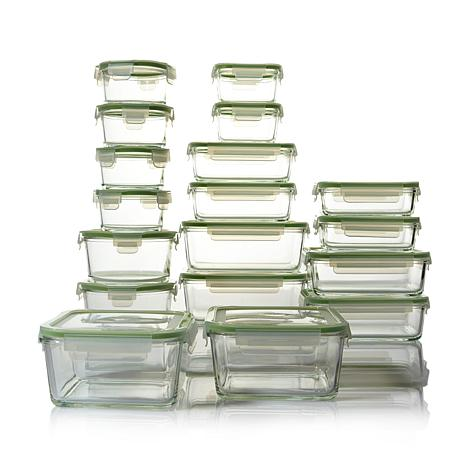 Kinetic Glassworks 36 piece Glass Food Storage Set 7958614 HSN