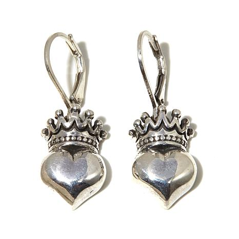 King Baby Jewelry Crowned Heart Earrings