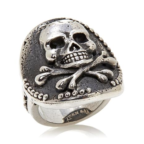 King Baby Jewelry Skull and Crossbones Coin Ring