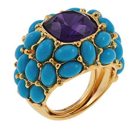 """KJL by Kenneth Jay Lane """"It's My Bling"""" Cabochon Dome Ring"""