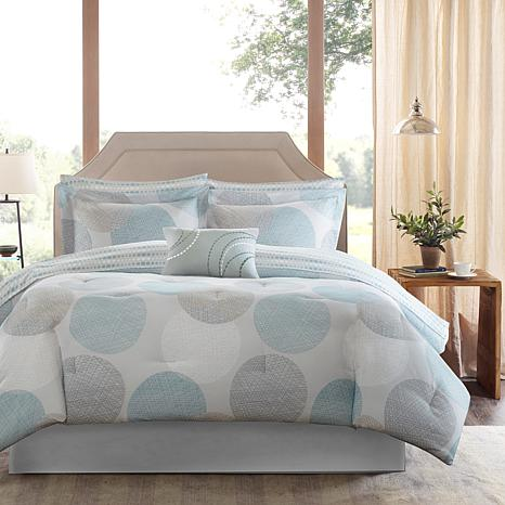 Knowles Twin 7pc Complete Bed and Sheet Set - Aqua