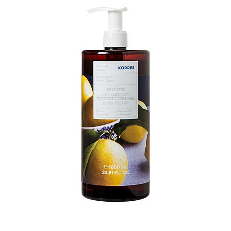 Korres 1-Liter Basil Lemon Renewing Body Cleanser