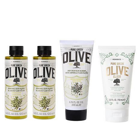 Korres 4-piece Olive Oil & Olive Blossom Age-Defying System