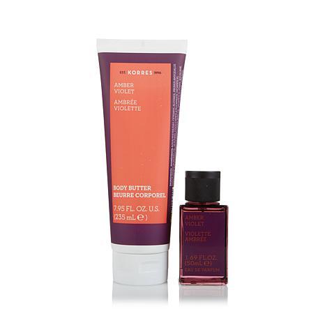Korres Amber Violet Eau de Parfum & Body Butter Duo
