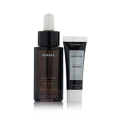 Korres Black Pine Firming Face Oil and Night Cream