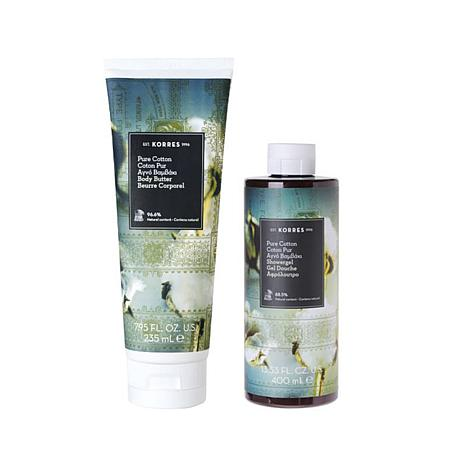 Korres Pure Cotton Body Butter & Shower Gel Duo