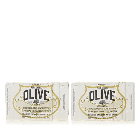 Korres Pure Greek Olive & Blossom Bar Soap Duo