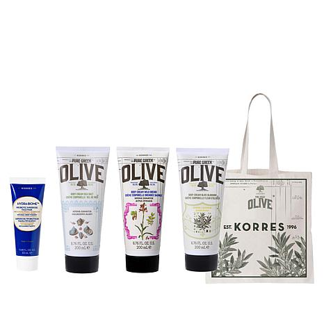 Korres Smoothing & Hydrating 4-piece Set with Tote Bag