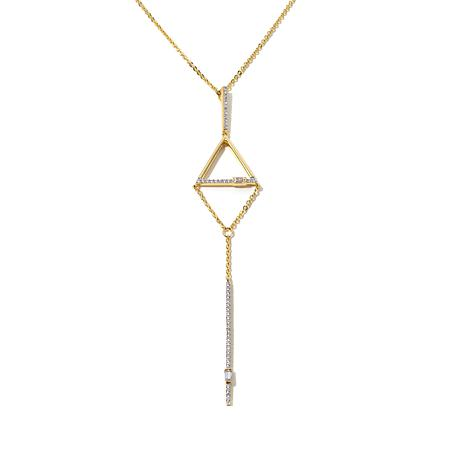 "Kristin Chenoweth ""Throwback"" Triangle Pendant w/Chain"