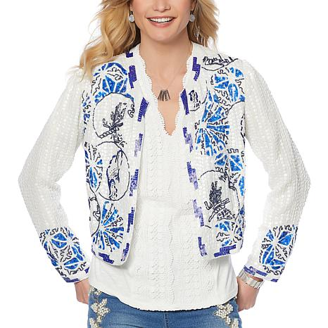 LaBellum by Hillary Scott Allover Beaded Jacket