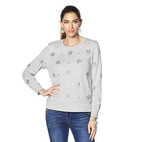 LaBellum by Hillary Scott Embellished Sweatshirt