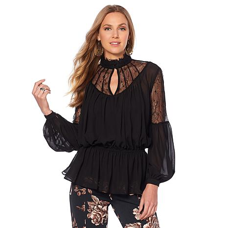 LaBellum by Hillary Scott Victorian Lace Top with Cami
