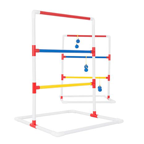 Ladder Toss Outdoor Game  Two PVC Game Sets with 6 Bolas and Carryi...