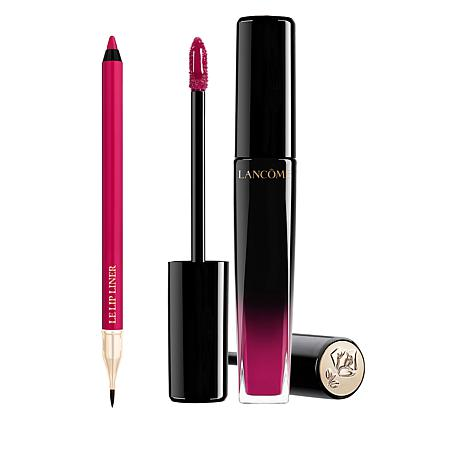 Lancôme Pink L'Absolu Lacquer and Le Lip Liner Duo