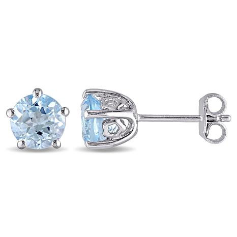 Laura ashley 2ctw blue topaz sterling silver stud earrings - Laura ashley sevilla ...