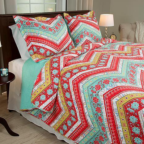 Lavish Home 2-piece Zina Quilt Set - Twin