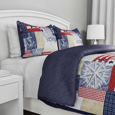 Lavish Home 2pc Patriotic Americana Quilt Set - Twin