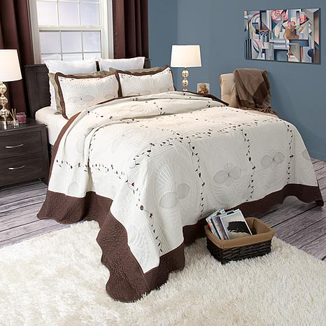 Lavish Home 3-piece Athena Quilt Set - Full/Queen