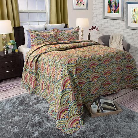 Lavish Home 3-piece Melanie Quilt Set - Full/queen