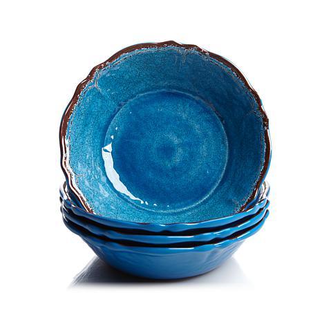 Le Cadeaux Antiqua Set of 4 Melamine Cereal Bowls