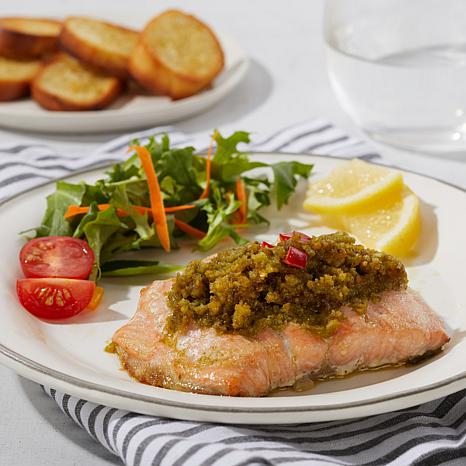 Legal Sea Foods 6-pack of 5.5 oz. Pesto-Topped Salmon Fillets AS