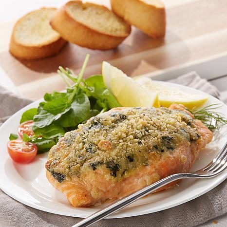 Legal Sea Foods 8-pk of 6 oz. Garlic Spinach Salmon Fillets Auto-Ship®