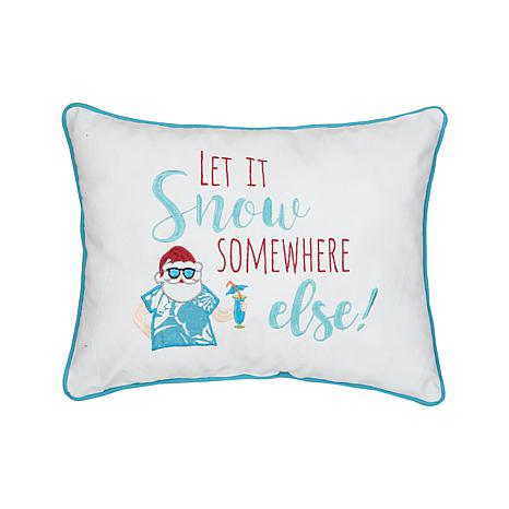 Let It Snow Embroidered Pillow