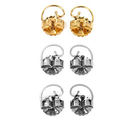 Levears™ 1 Pair Gold-Plated and 2 Pair Stainless Steel Earring Lifts