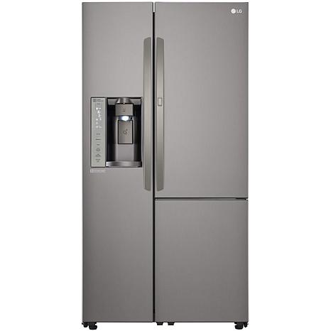 26 cu ft side by side refrigerator black stainless steel 8206121 hsn. Black Bedroom Furniture Sets. Home Design Ideas