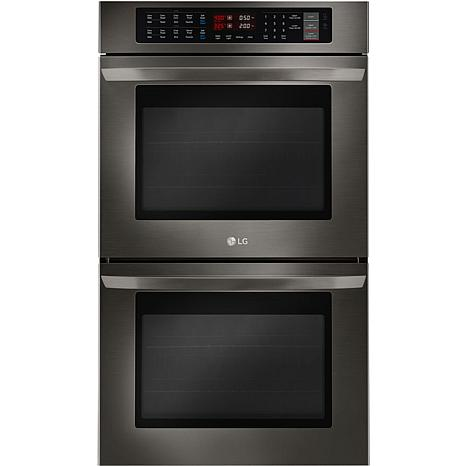 LG 30 In. Double Wall Oven with True Convection- Black Stainless Steel